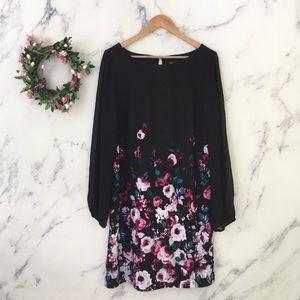 White House black market floral evening dress
